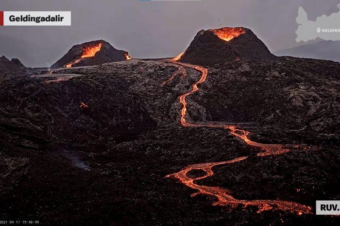 Извержение вулкана в Исландии похоже на марсианское